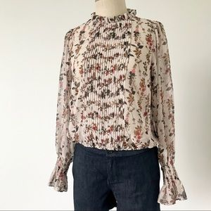 Zara Basic Floral Sheer Blouse